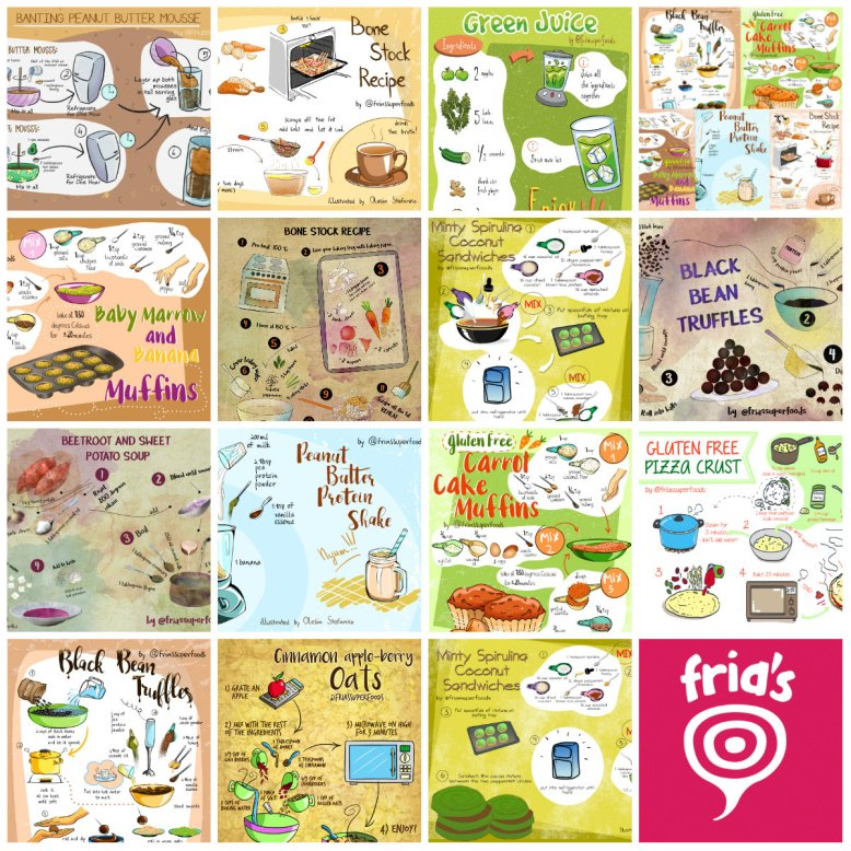 collage illustrated recipes