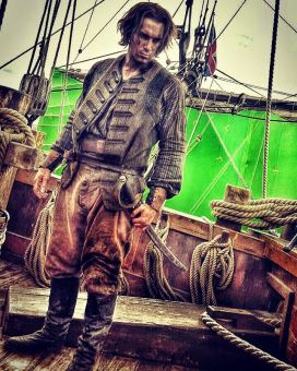 DeVille as a stunt performer in Black Sails Season 3